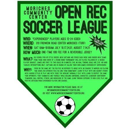 open rec soccer league