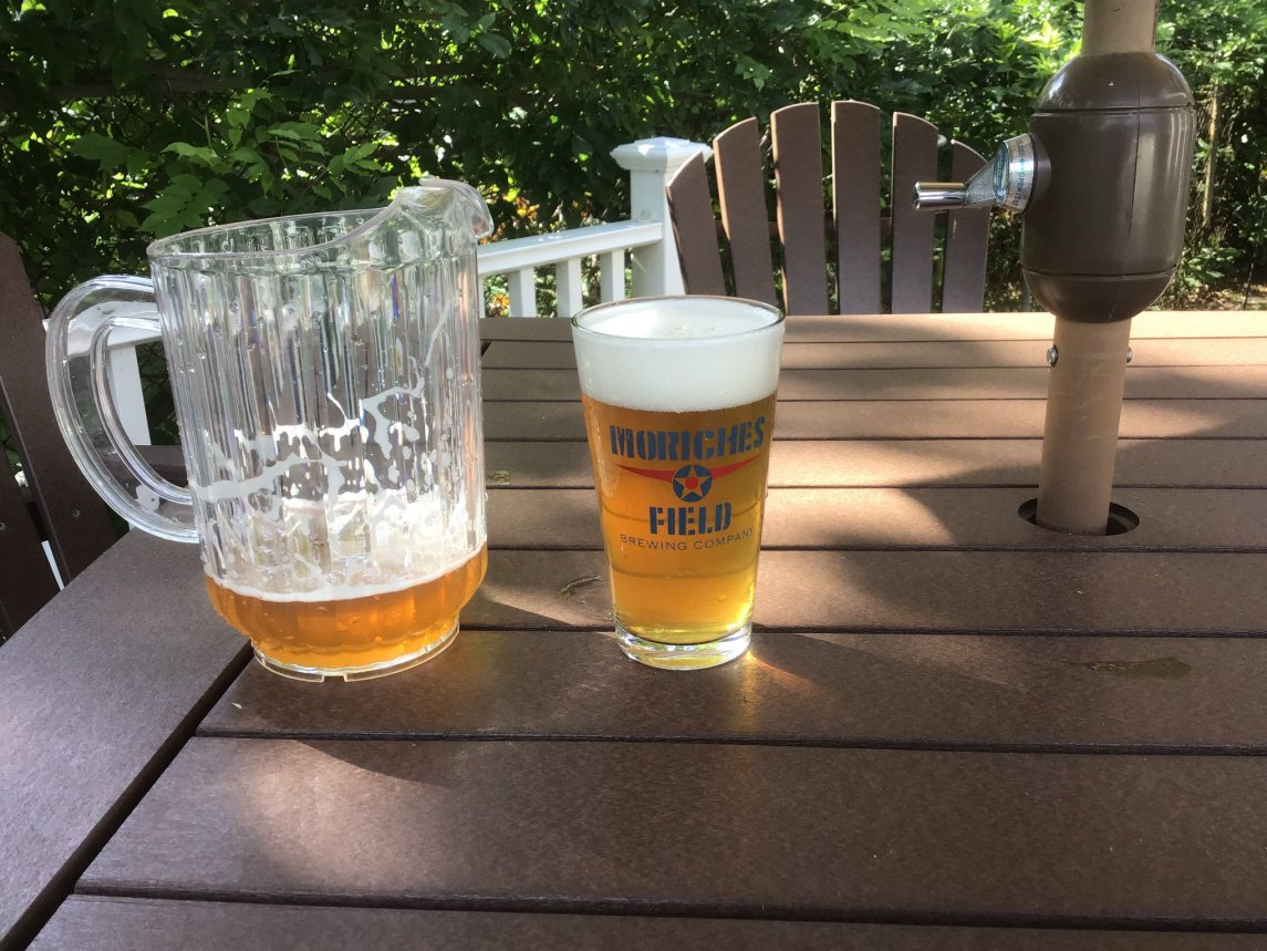 Moriches Field beer glasses