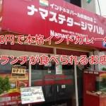 650円で本格的なインドカレーのランチが食べられるナマステ・タージマハル守口店