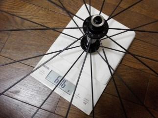 SACRAホイール 4G-50-TU 実測重量