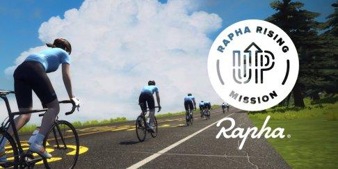 rapha RISING mission zwift ズイフト