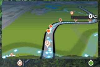 ZWIFT(ズイフト)「ライド」画面の詳細説明 コースマップ