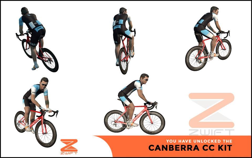 Canberra CC ZWIFT(ズイフト) 全ジャージ入手方法、プロモコード一覧