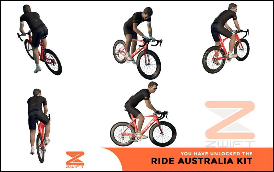 Ride Australia ZWIFT(ズイフト) 全ジャージ入手方法、プロモコード一覧