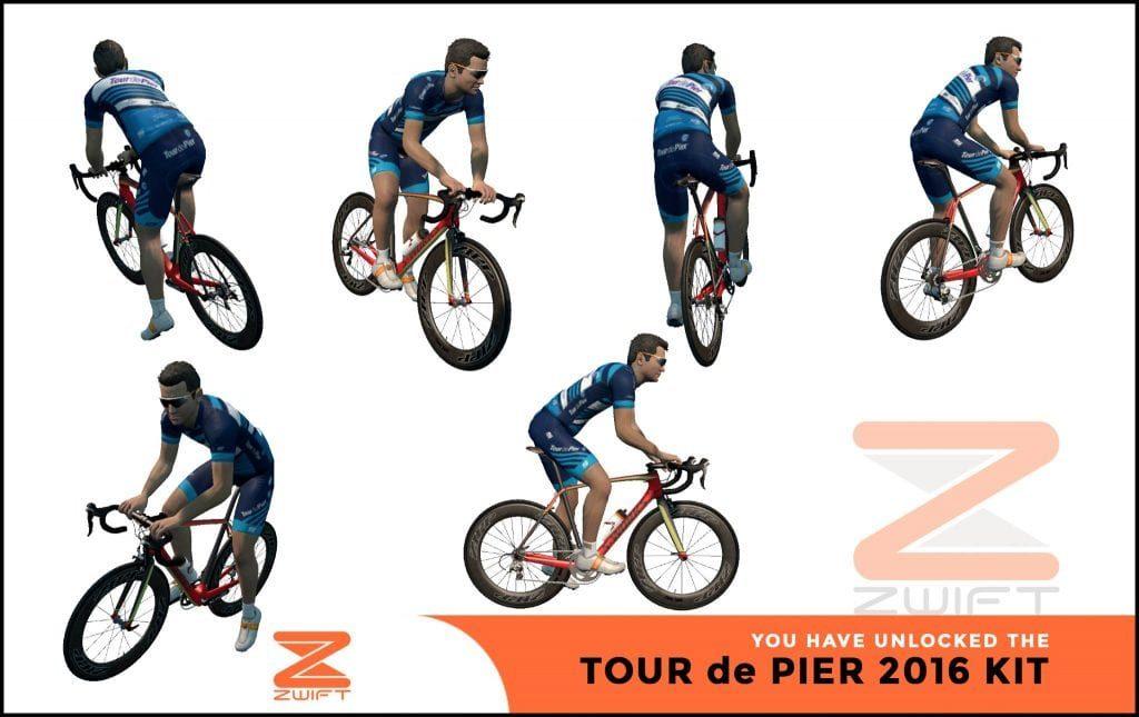 Tour de Pier ZWIFT(ズイフト) 全ジャージ入手方法、プロモコード一覧