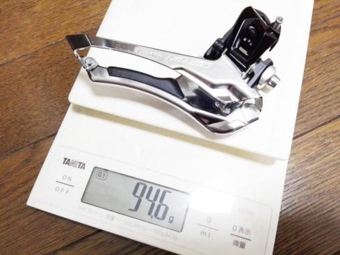 FD フロントディレイラー R7000の実測重量を、公表重量や5800、R8000、R9100と比較