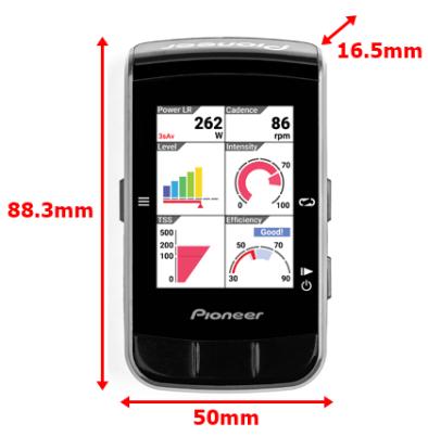 本体、スクリーンのサイズ Pioneer新型サイコンSGX-CA600は秀逸!新型パワメ、アプリもチェック。