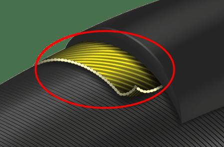 GP5000タイヤの路面抵抗をテストした結果 改良型Vectran Breaker耐パンクベルト
