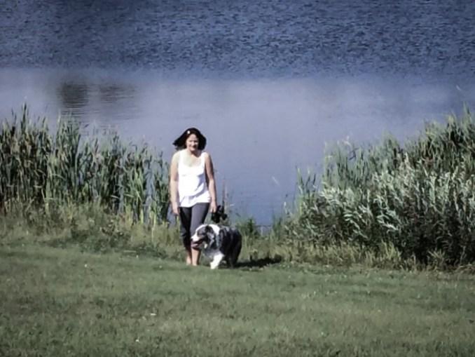 dog and woman-2