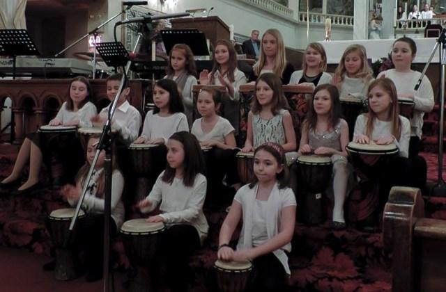 Ecole Notre Dame Choir performs Little Drummer Boy