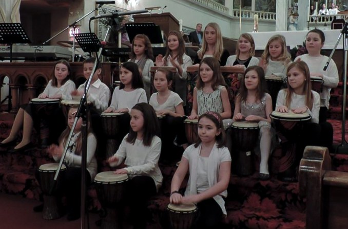Ecole Notre Dame Choir performs Little Drummer Boy