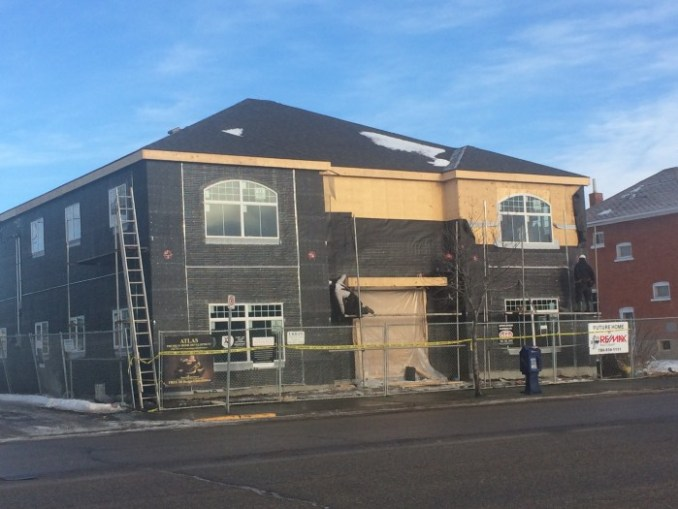 The Re/Max building on 100 Avenue is moving along quickly.