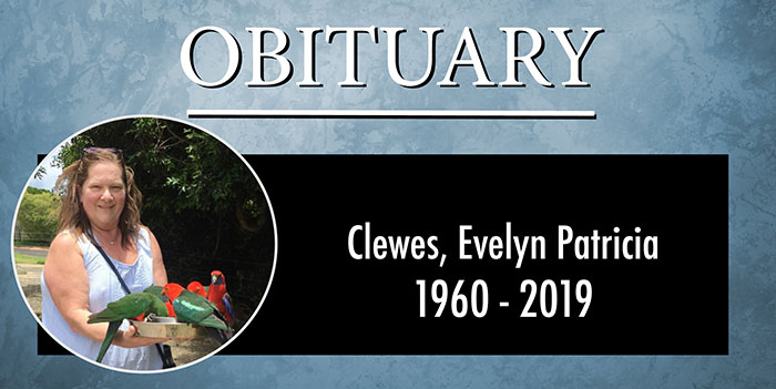 Obituary: Clewes, Evelyn Patricia