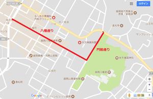 秋祭り通行止め地図1