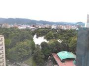 ホテルから見下ろした中島公園