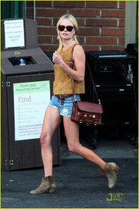 Kate Bosworth seen wearing Daisy Duke shorts as she shops at Bristol Farms in Los Angeles.