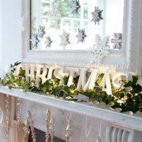 Christmas-Modern-Mantel-decoration