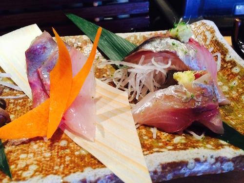 Sushi Ran - hamachi - (yellowtail) & madai (wild red snapper)