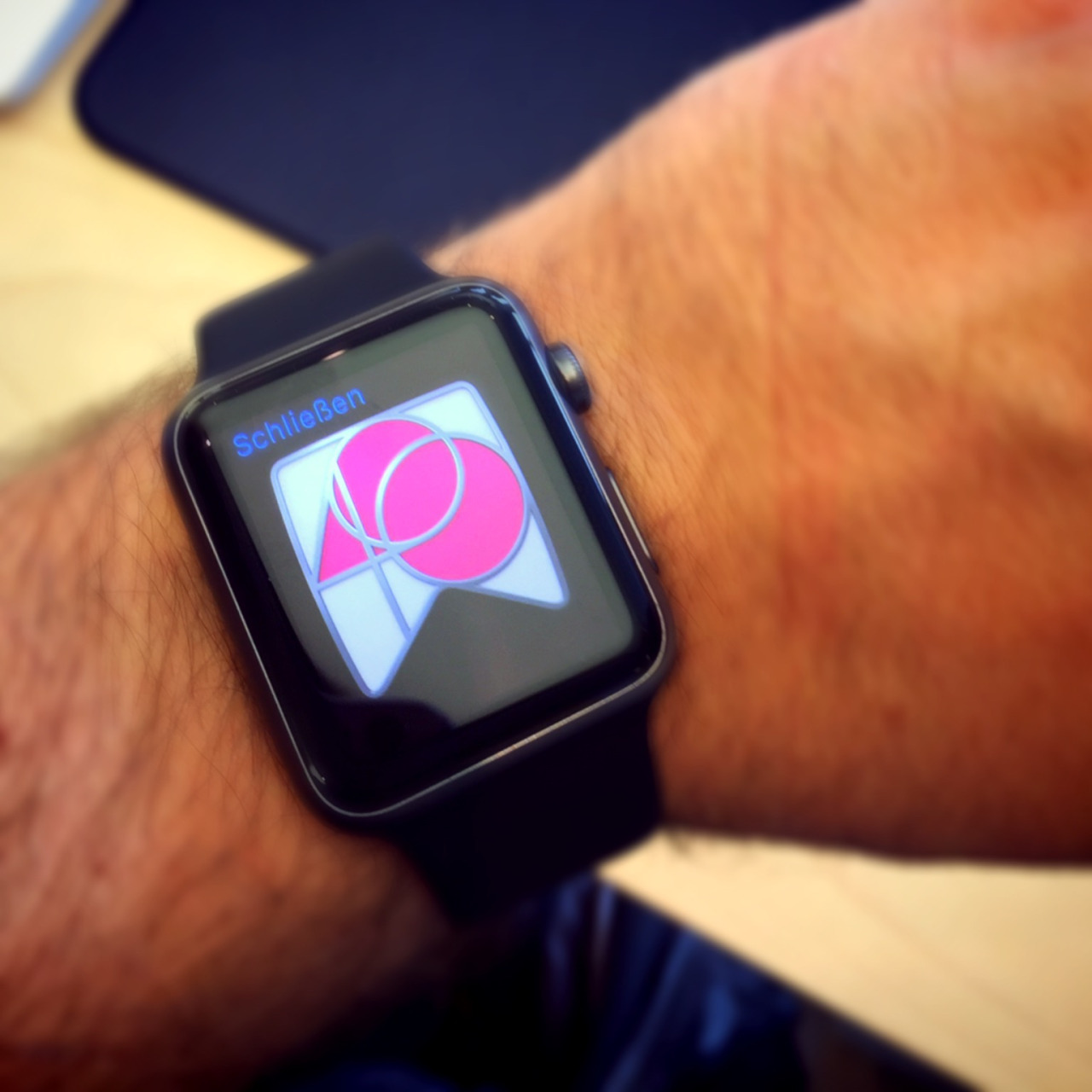 Trying on the Apple Watch - 4