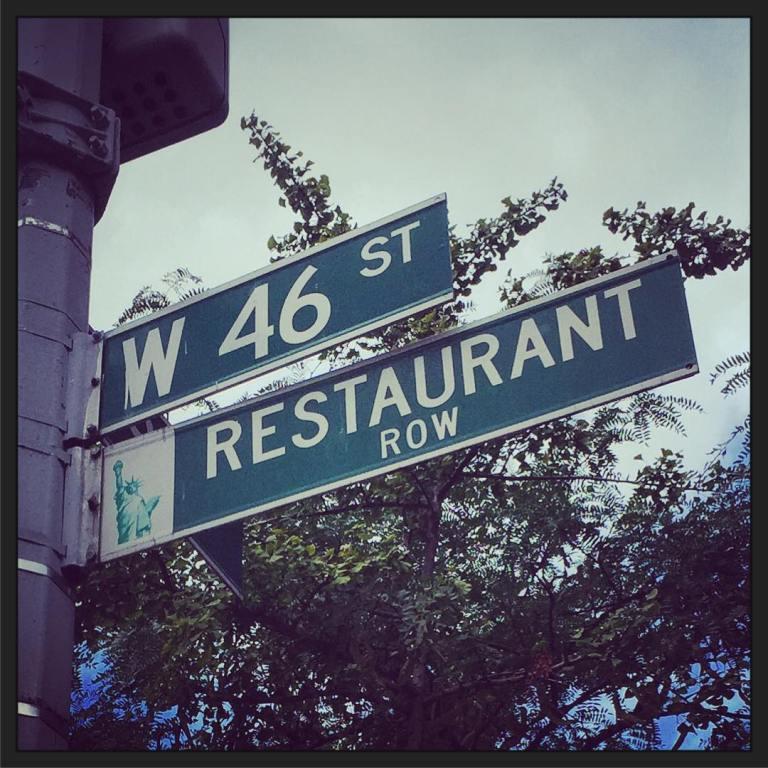 NYC - restaurant row