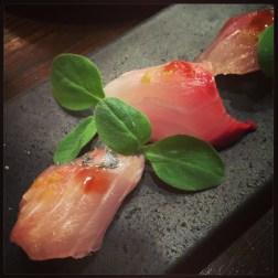 Akiko's Restaurant - shima aji sashimi