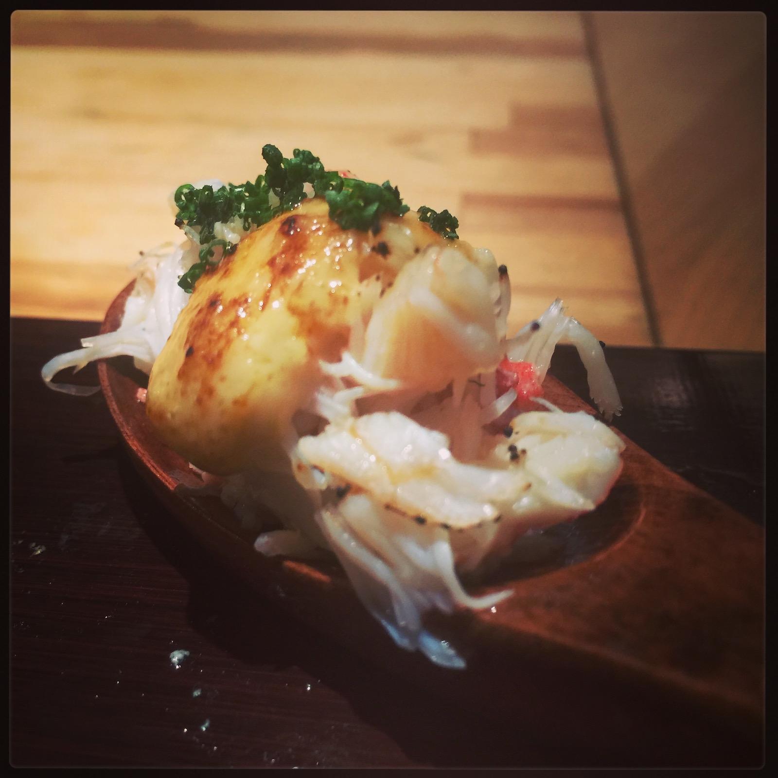 Sushi Ran omakase - tarabagani sashimi