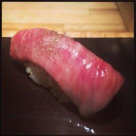Sushi Ran - omakase - tokachi wagyu nigiri