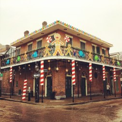 Christmas Decoration on Bourbon St. in French Quarter
