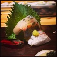 Sushi Ran - omakase - aji line caught horse mackerel sashimi