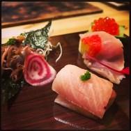 Sushi Ran - omakase - hotaru ika baby firefly squid - kinmedai golden eye snapper - buri toro wild yellowtail belly sashimi