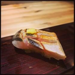 Sushi Ran - omakase - mahata black grouper nigiri