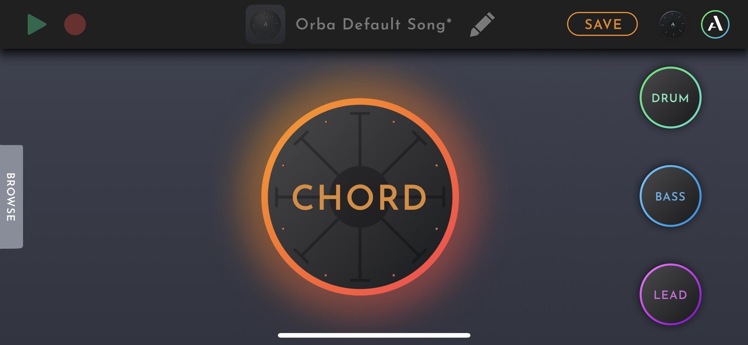 ORBA app iOS Chord