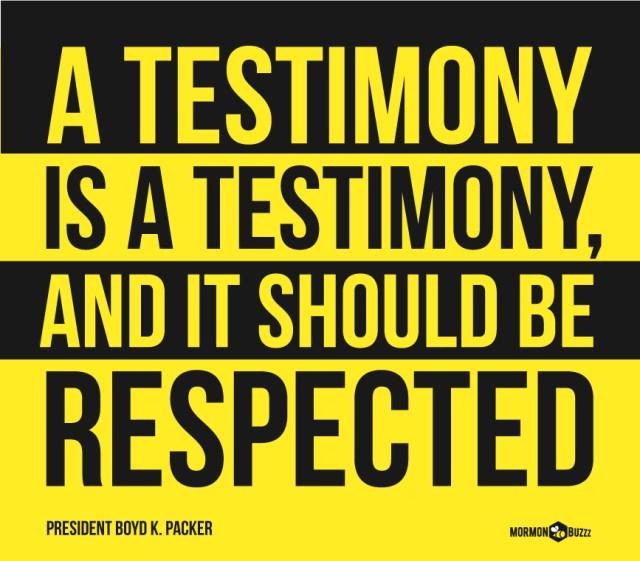testimony-respected