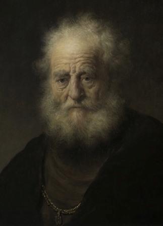 6_Rembrandt_Studie van oude man met gouden ketting_M