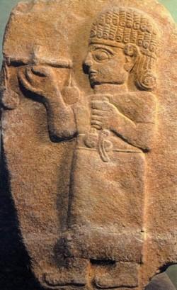 Funerary stele of a merchant of Maraş (modern city of Kahramanmaraş)