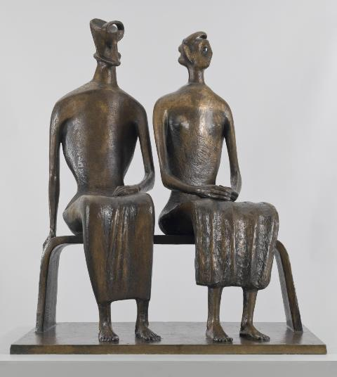 King and Queen 1952-3, cast 1957 Henry Moore OM, CH 1898-1986 Presented by the Friends of the Tate Gallery with funds provided by Associated Rediffusion Ltd 1959 http://www.tate.org.uk/art/work/T00228