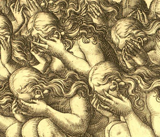 LeMoyne engravings, Mourning Widows, 1500s
