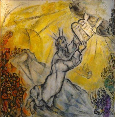 Marc Chagall_Mozes ontvangt de tafelen der wet_L