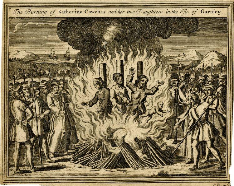 Protestantse Katherine Cauches en dochters op de brandstapel_British Museum