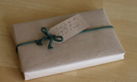 How to Wrap a Gift Using the Bag You Bought it In