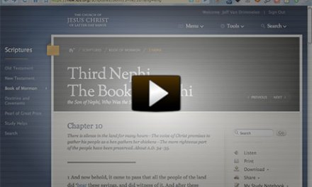 Video Walk-Through of New LDS.org Scriptures