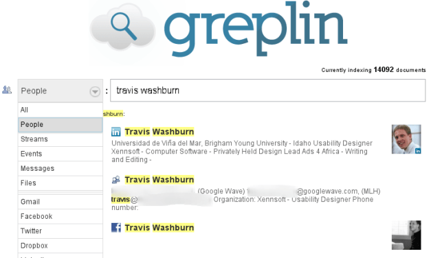 Use Greplin to Search Your Digital History