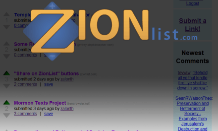 ZionList: THE New Goto Place for LDS Discussions & Sharing