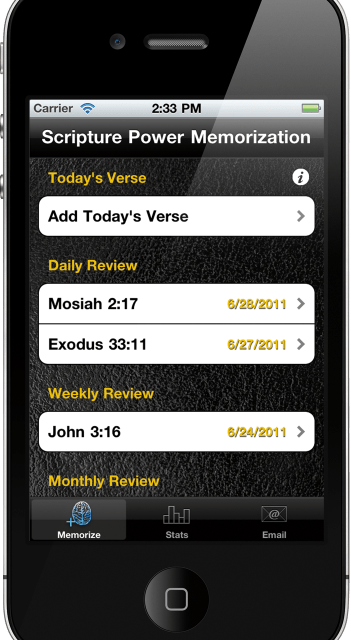 Memorize Scriptures With The Scripture Power Memorization App