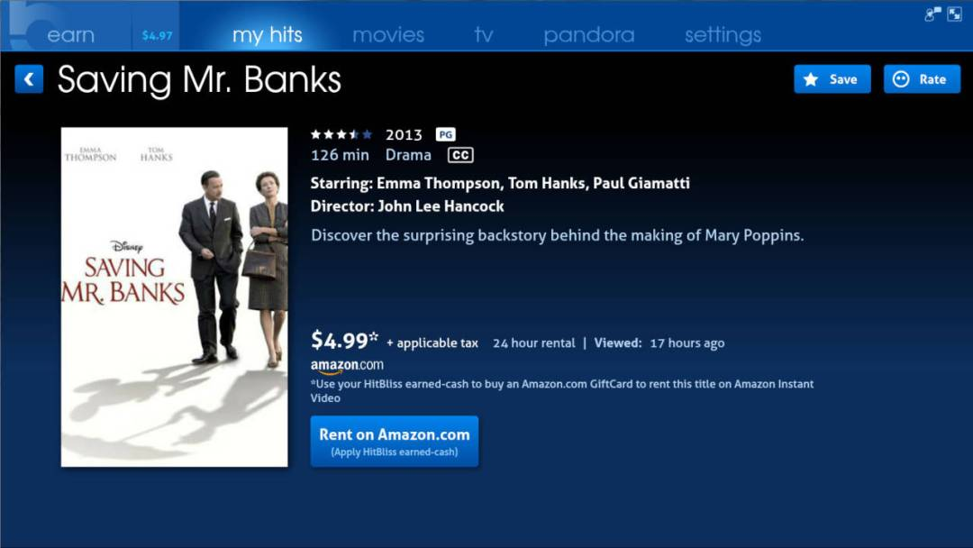 Hitbliss - watch ads, get free Amazon Instant credit