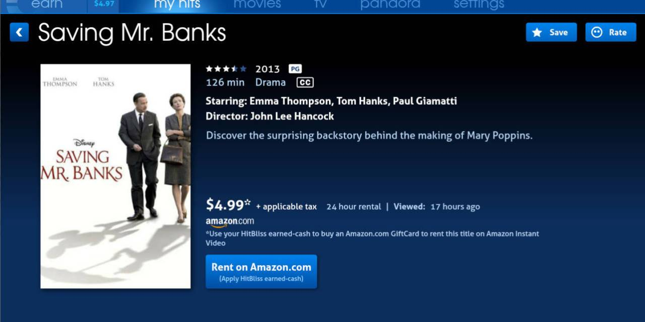 Get Free Amazon Instant Movie & TV Rentals with Hitbliss
