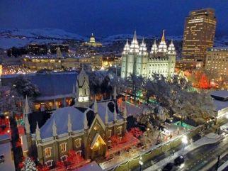 #LIGHTtheWORLD Temple Square Christmas Lights