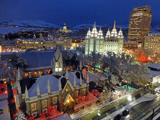 LIVE tour of the Giving Machines and Christmas lights on Temple Square!