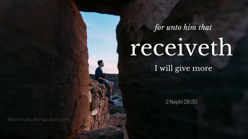 Scripture study habit changed life nephi him that receiveth