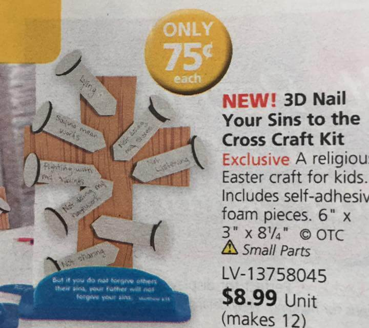 3D NAIL YOUR SINS TO THE CROSS craft kit (Is this a good idea for Primary-aged kids?)